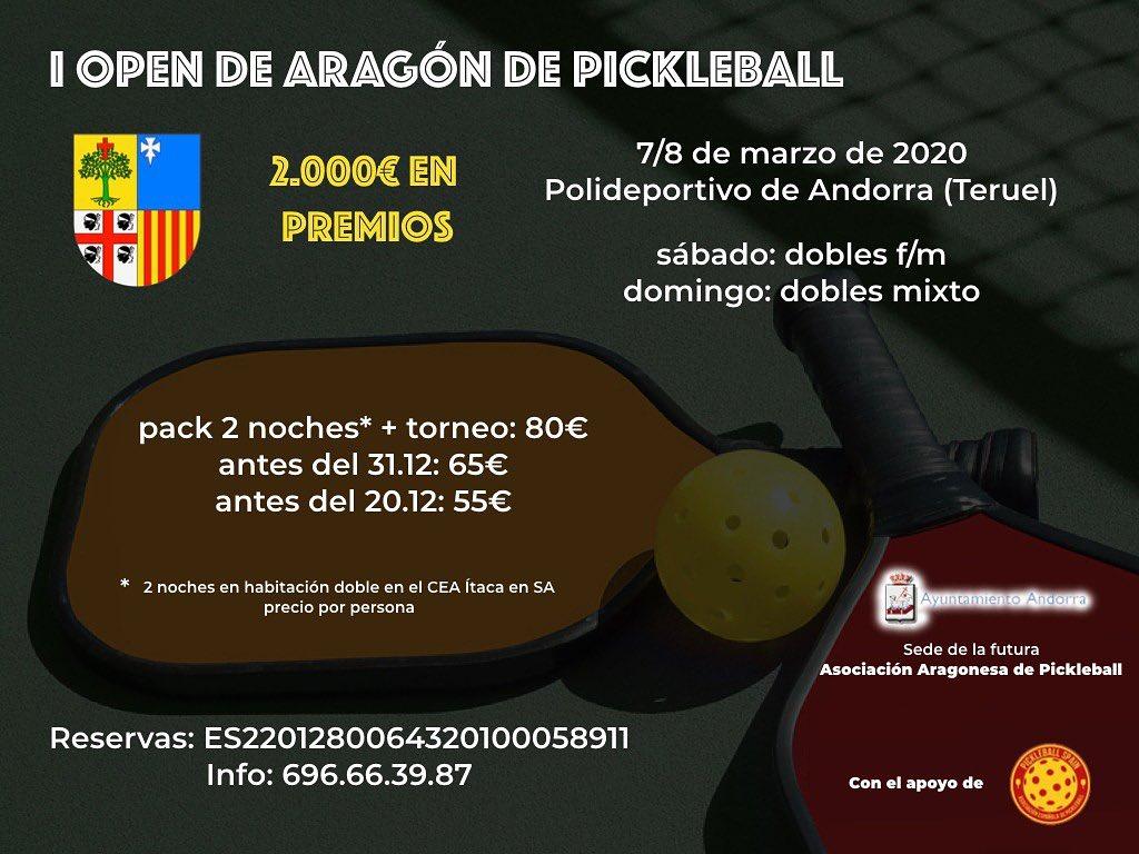I Open de Pickleball de Aragón @ Polideportivo de Andorra (Teruel)